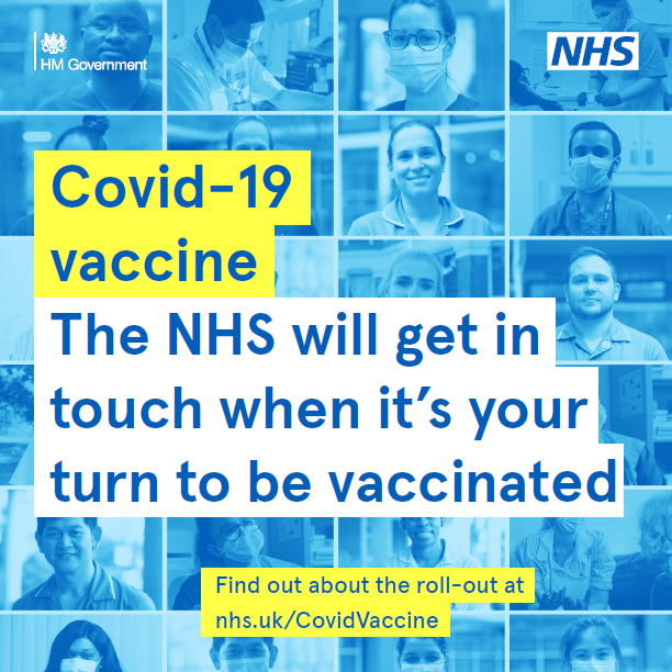 COVID-19 Vaccine - The NHS will contact you when it's your turn